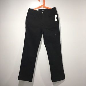 🎆Boys slim straight leg pants black size 10
